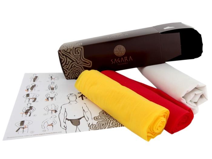 Packaging pour les fundoshi de la marque Sagara
